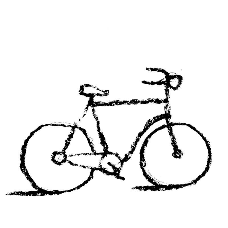 Illustratore Disegnatore Lorenzo Donati Natalori Milano bicicletta ruote design