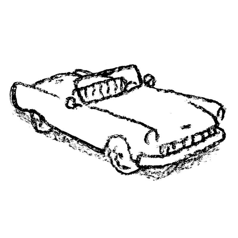 Illustratore Disegnatore Lorenzo Donati Natalori Milano spider decapottabile tesla auto macchina