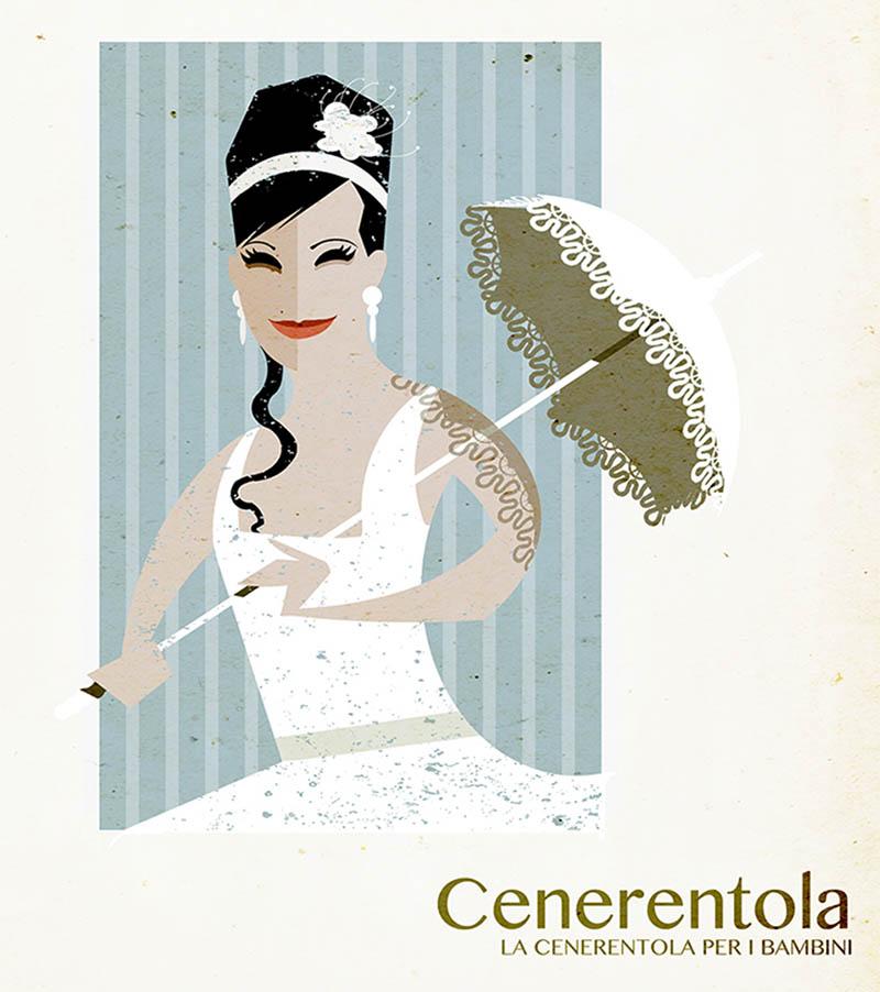 Illustratore Disegnatore Lorenzo Donati Natalori Milano lilly teatro alla scala ombrellino cenerentola attrice soprano opera
