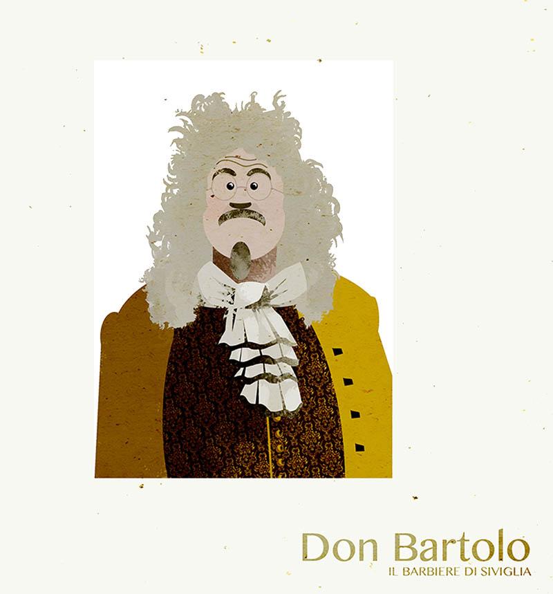 Illustratore Disegnatore Lorenzo Donati Natalori Milano lilly teatro alla scala ombrellino ponnelle don bartolo barbiere siviglia attrice soprano opera