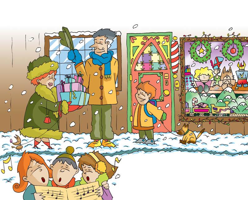 Illustratore Disegnatore Lorenzo Donati Natalori Milano natale chrismas carrols canti natale regali shopping negozi