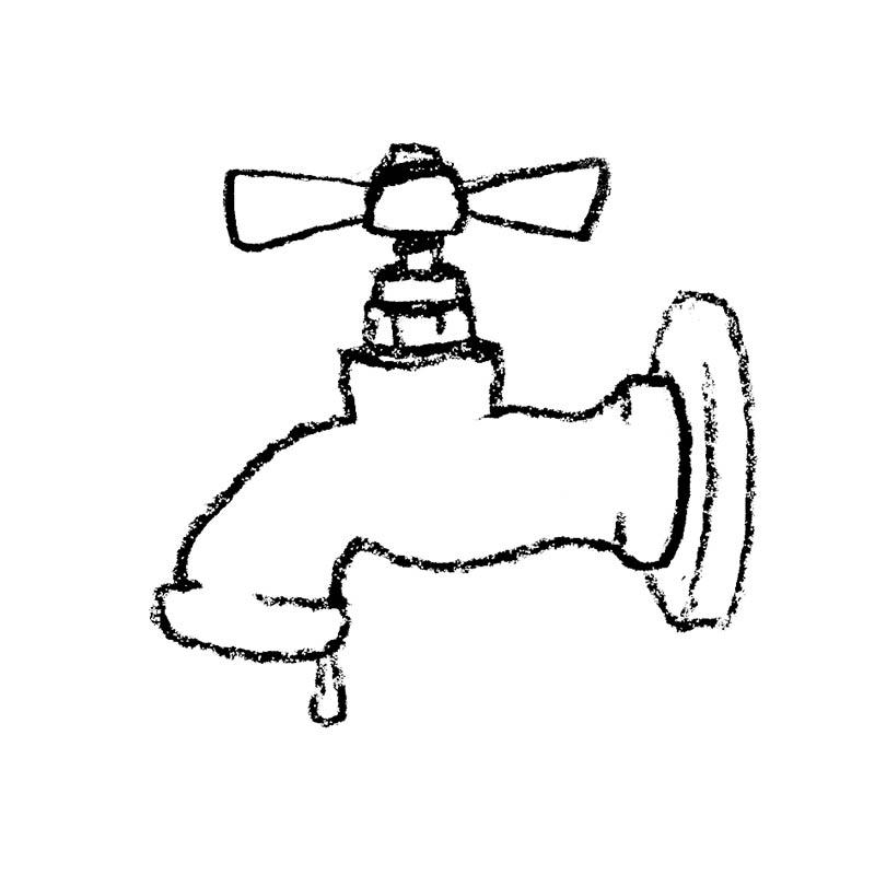 Illustratore Disegnatore Lorenzo Donati Natalori Milano acqua oro blu potabile rubinetto vecchio