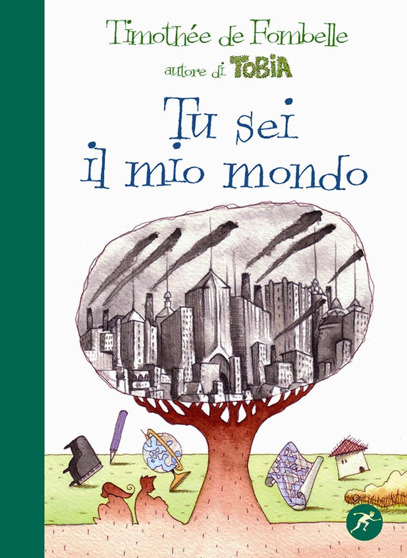 Illustratore Disegnatore Lorenzo Donati Natalori Milano copertina libro amore albero città smog coppia fuga litigare