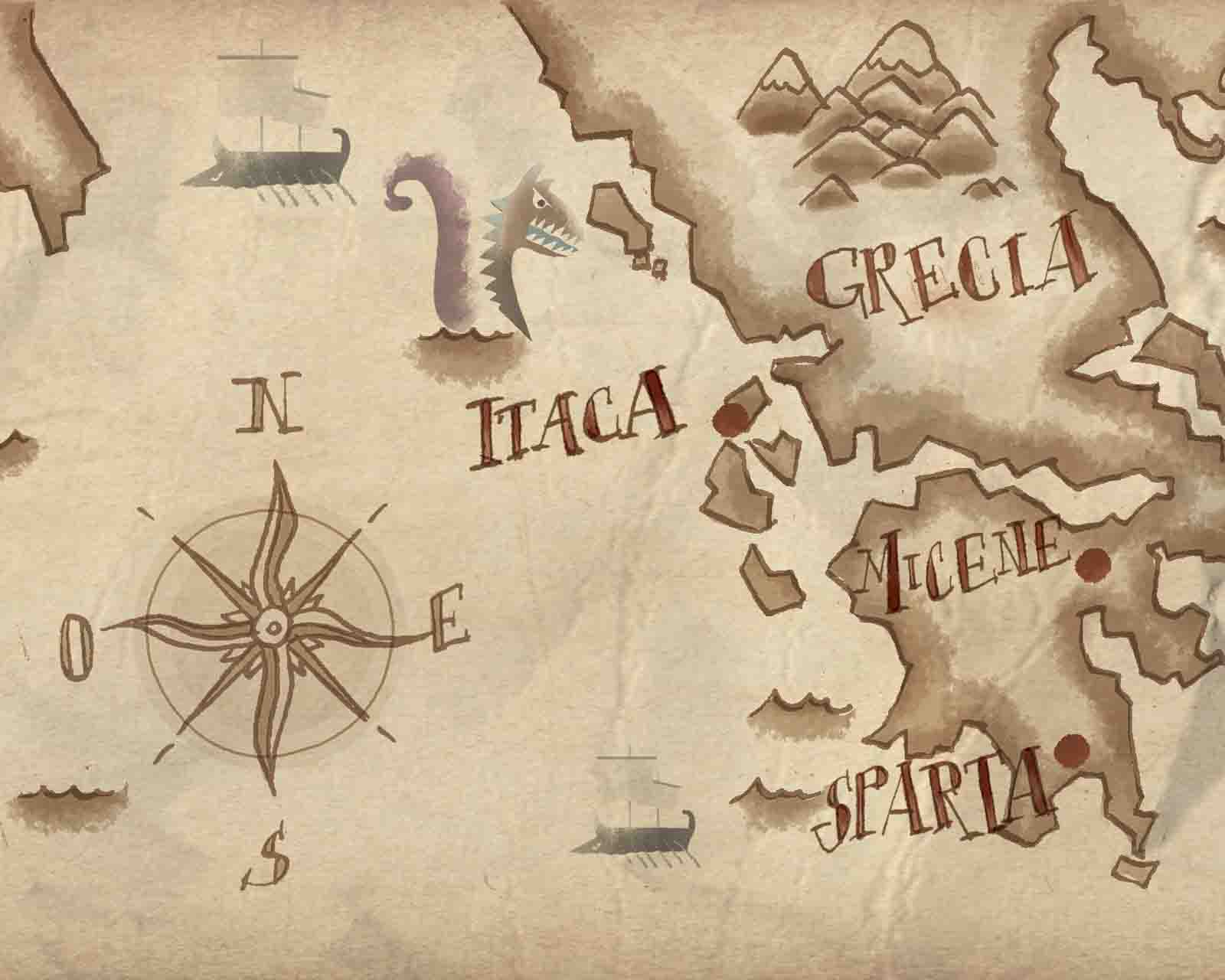 Illustratore Disegnatore Lorenzo Donati Natalori Milano cartagine mappa guerra navi grecia