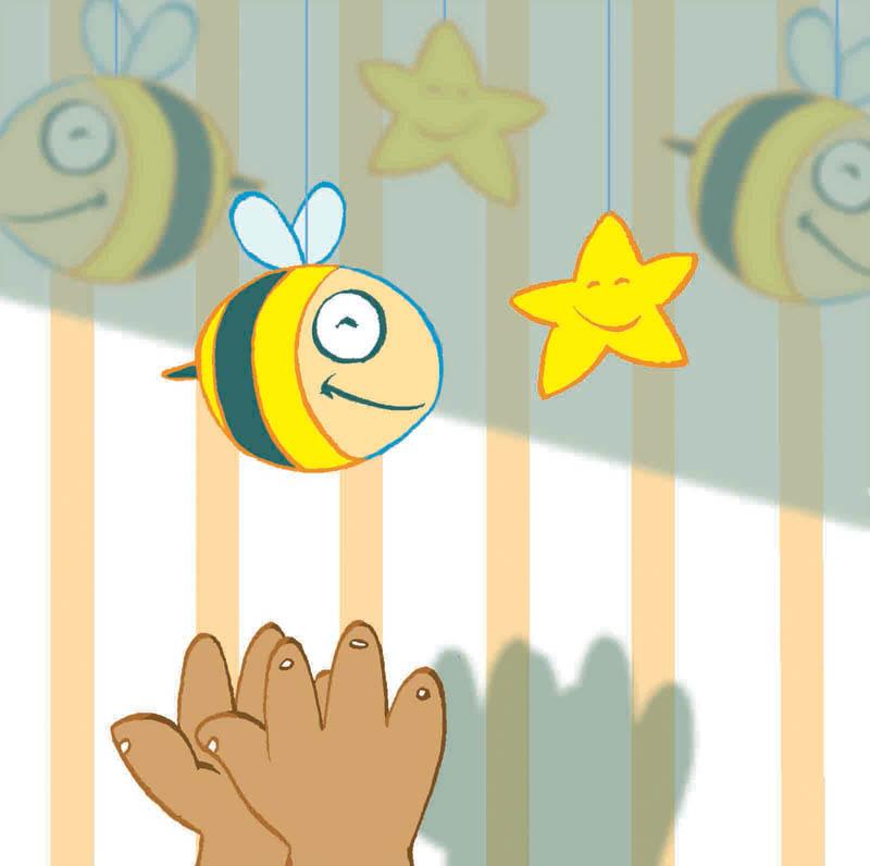Illustratore Disegnatore Lorenzo Donati Natalori Milano mani bimbo gioco ape stella ombra muro
