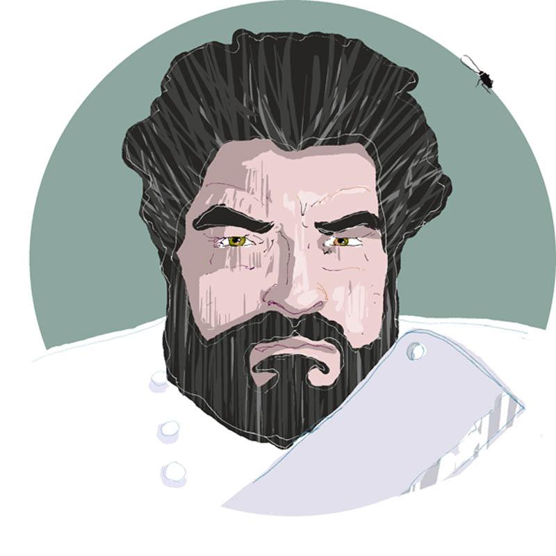 Illustratore Disegnatore Lorenzo Donati Natalori Milano cannavacciuolo mannaia schiaffoni scarafaggio cucine incubo