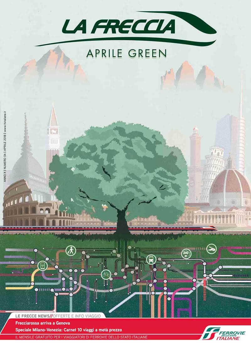 Illustratore Disegnatore Lorenzo Donati Natalori Milano roma venezia genova varenna dolomiti albero linee ferrovia italia