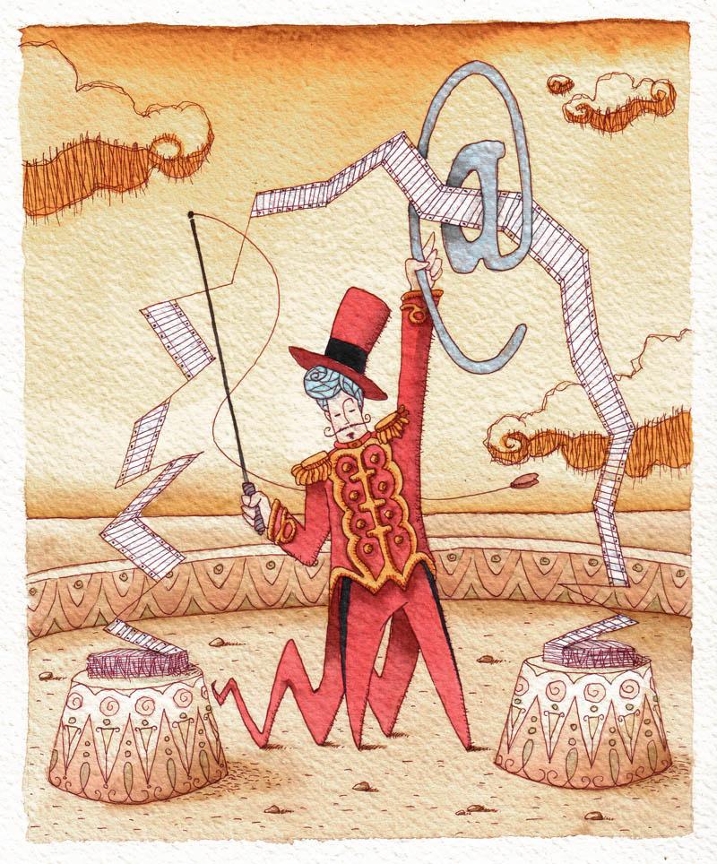 Illustratore Disegnatore Lorenzo Donati Natalori Milano ammaestratore tasse dichiarazione fiscale fattura elettronica circo