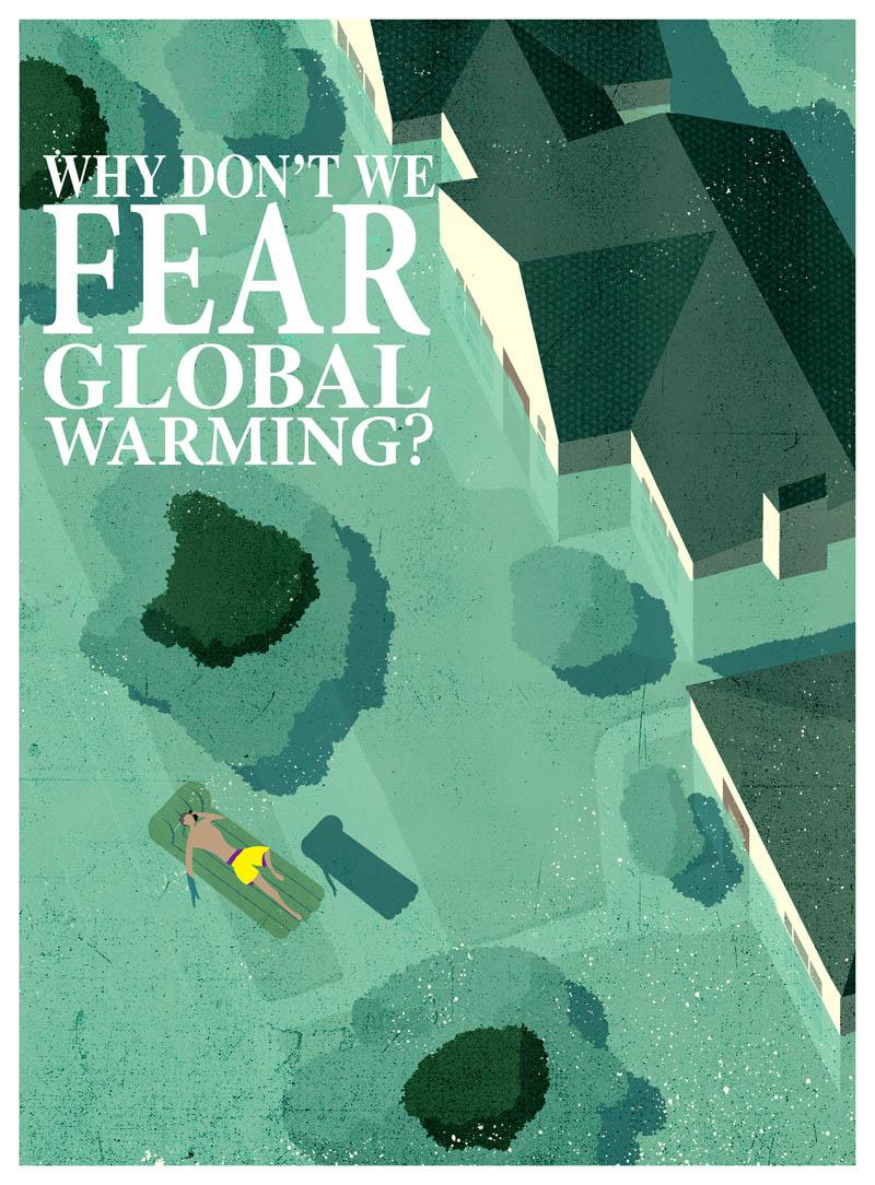 Illustratore Disegnatore Lorenzo Donati Natalori Milano allagamento esondazione greta riscaldamento globale friday future