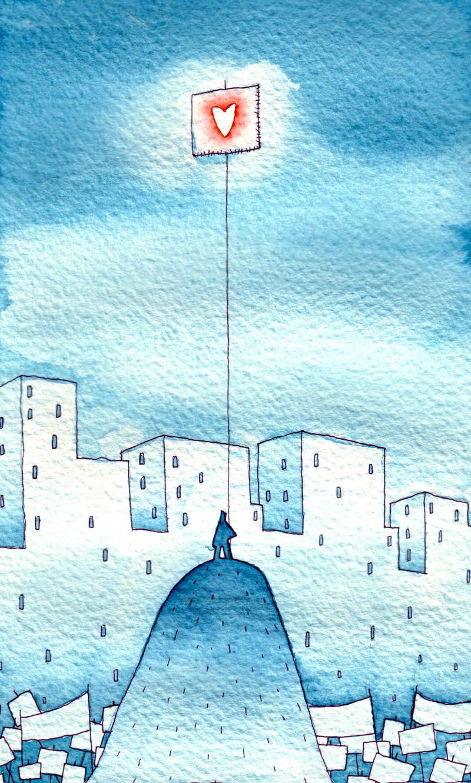 Illustratore Disegnatore Lorenzo Donati Natalori Milano città manifestazione protesta amore black block cgil