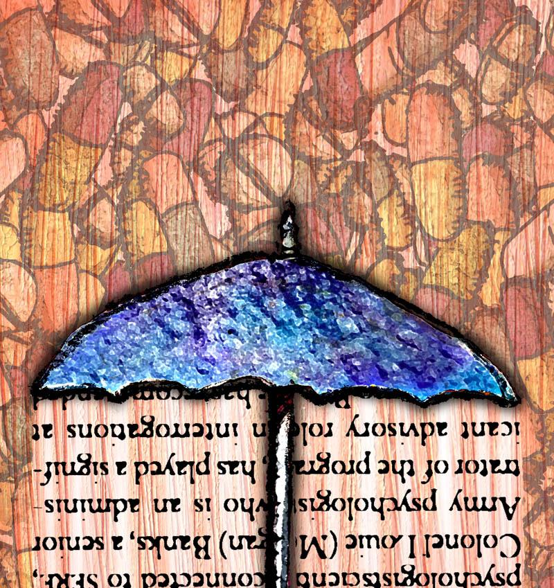 Illustratore Disegnatore Lorenzo Donati Natalori Milano ombrello pillole medicine parole psicologo psichiatra protezione aiuto