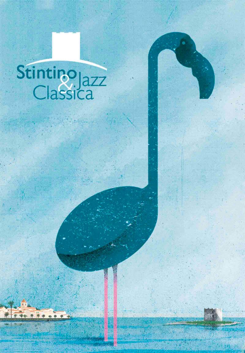 Illustratore Disegnatore Lorenzo Donati Natalori Milano stintino mare cielo fenicottero nota musicale asinara festival jazz