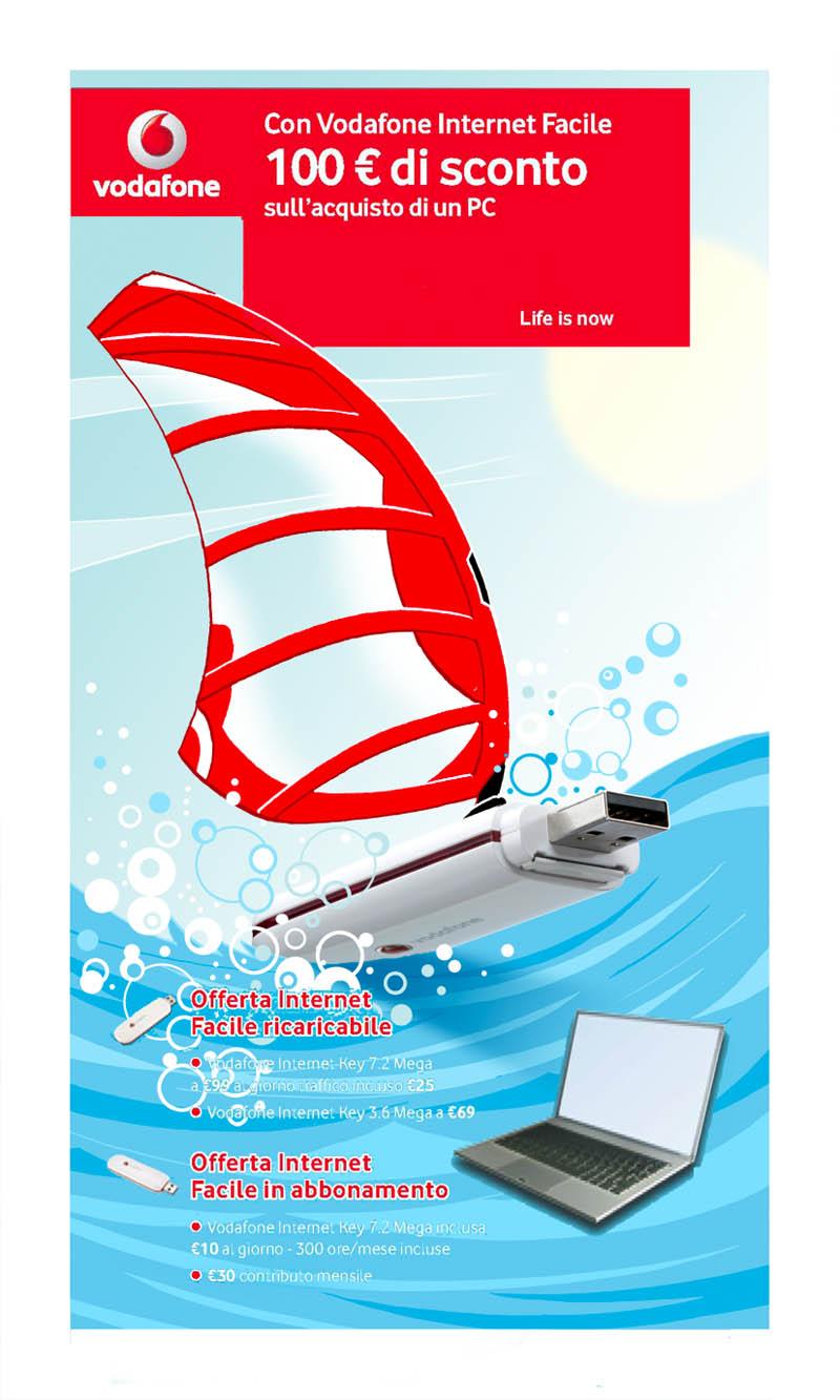Illustratore Disegnatore Lorenzo Donati Natalori Milano onda, surf chiavetta usb wifi vodafone